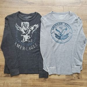 AMERICAN EAGLE Graphic Thermals Set of 2